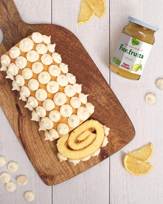 recette de Bûche au citron meringuée