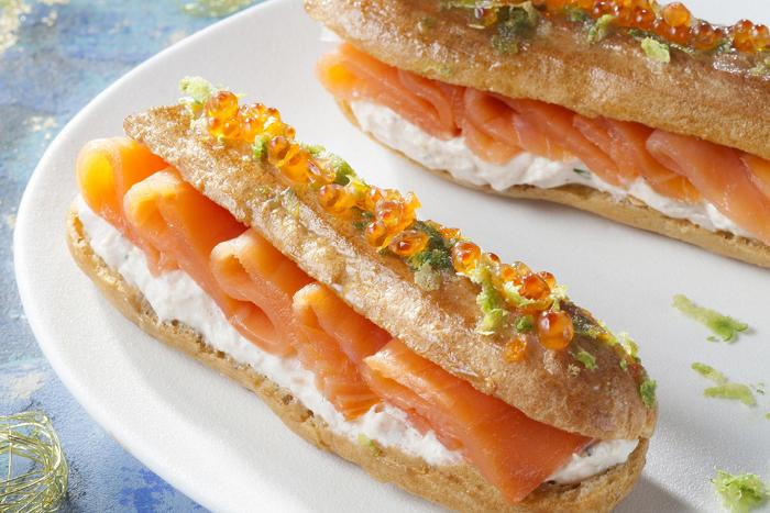 Eclairs gourmands au saumon fumé