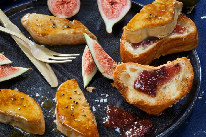 Foie gras poêlé sur brioche