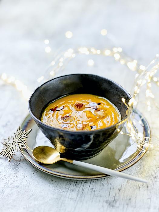 recette de Velouté de potimarron aux Saint-Jacques