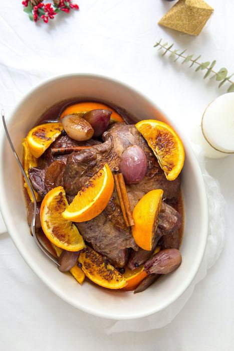recette de Chevreuil rôti à l'orange et aux épices