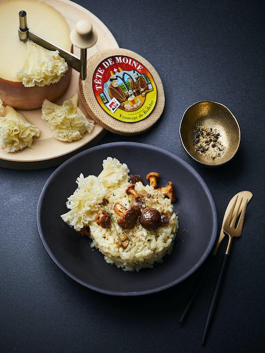 recette de Risotto à la châtaigne et aux champignons
