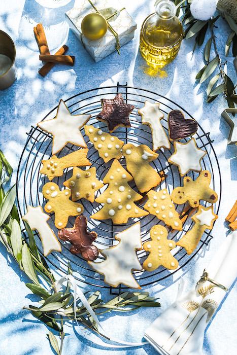 recette de Biscuits de Noël à l'huile d'olive