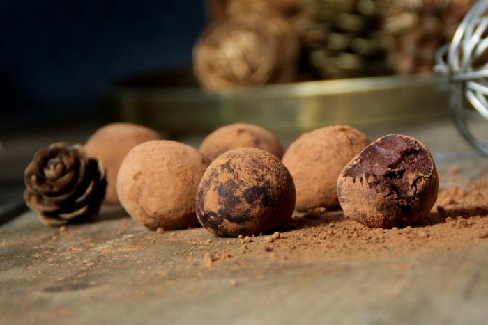 Truffes vegan au chocolat bio