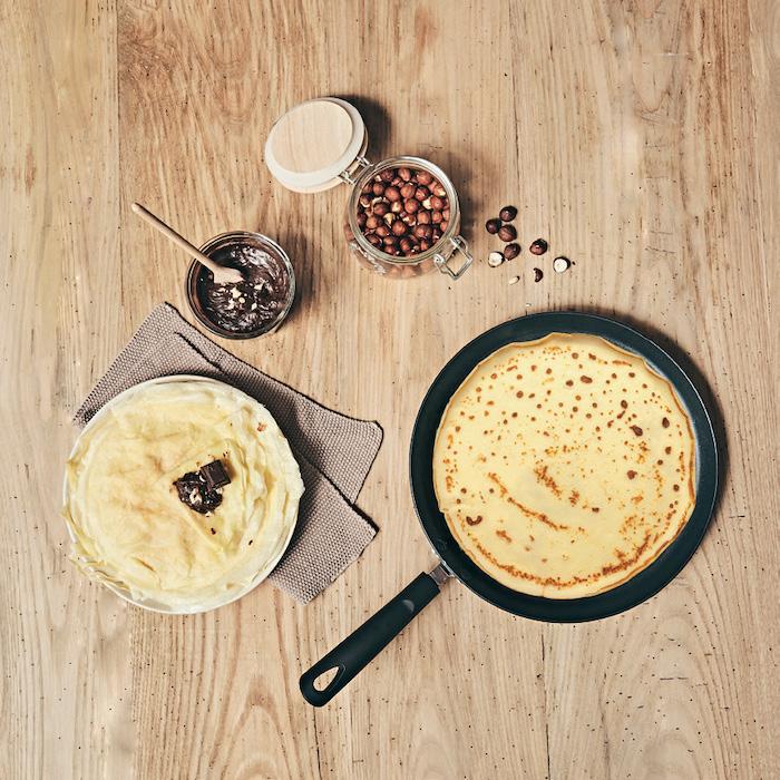 recette de Crêpes et pâte à tartiner maison