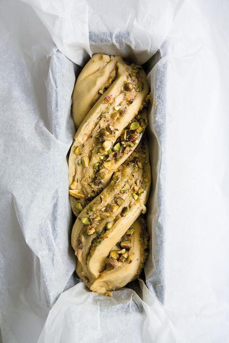 recette de Babka pistaches cardamome