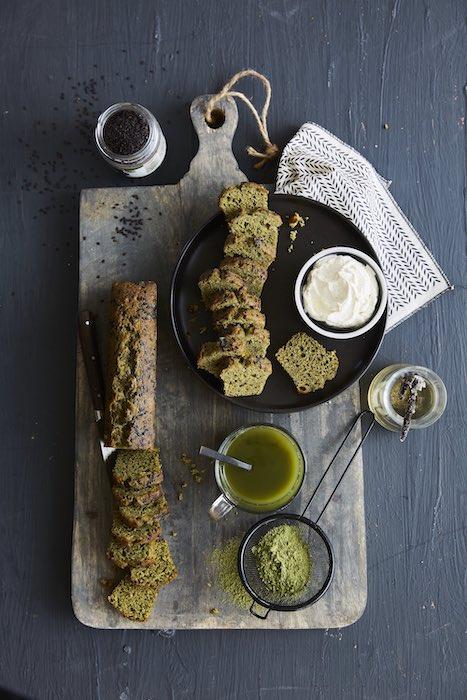 recette de Cake au Matcha et graines de sésame