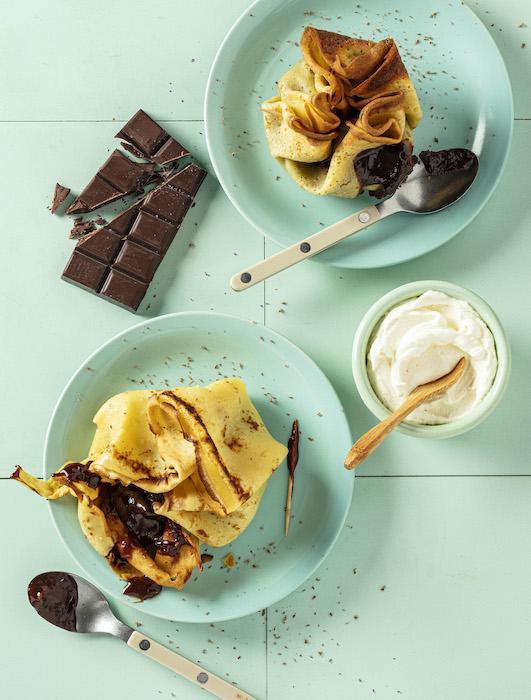 la recette de La crêpe moelleuse au chocolat