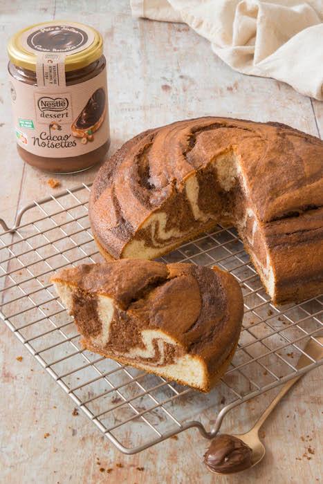 recette de Gâteau marbré à la pâte à tartiner