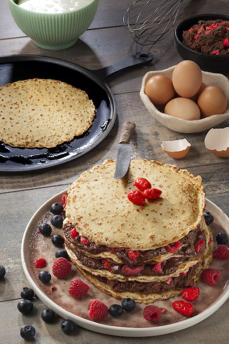 recette de Gâteau de crêpes à la mousse au chocolat