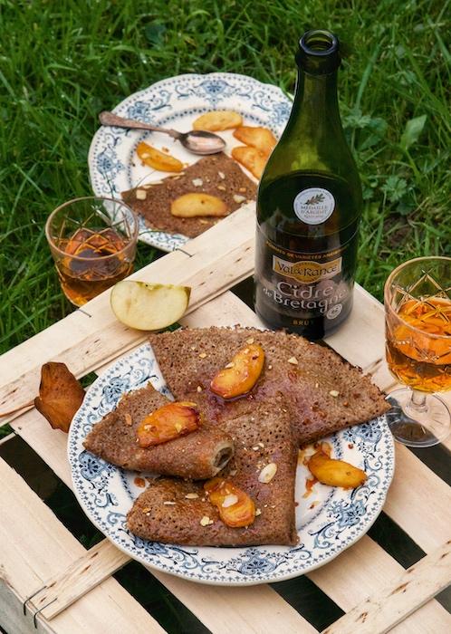 recette de Galette de sarrasin sucrée aux pommes