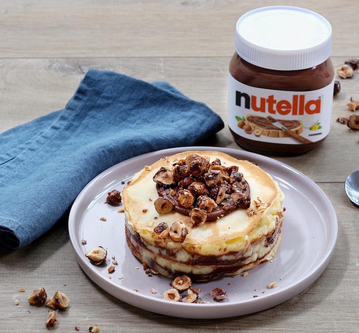 recette de Mille-feuilles de crêpes au Nutella
