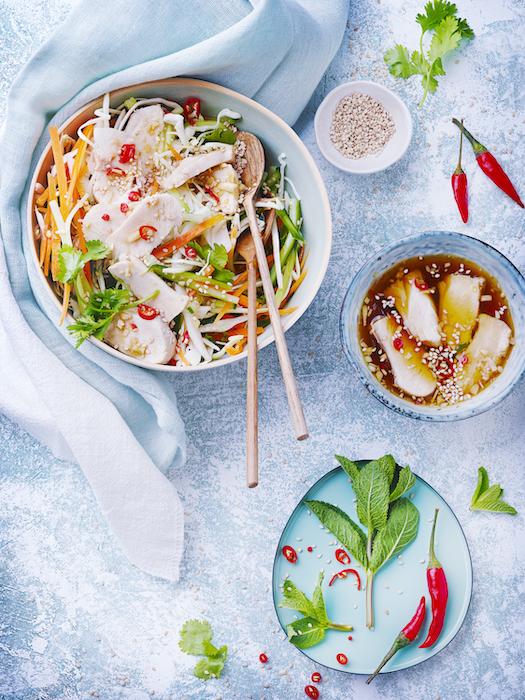recette de Salade vietnamienne légère au lapin
