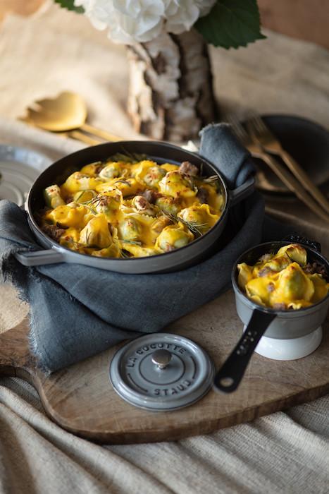 recette de Gratin de tortellini ricotta épinards