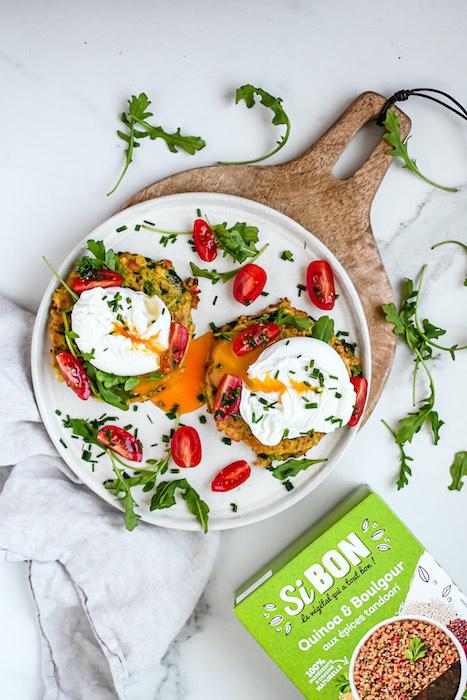 recette de Galettes de quinoa et boulgour aux épices