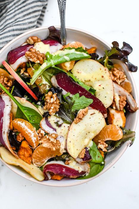 recette de Salade de magret aux fruits d'automne