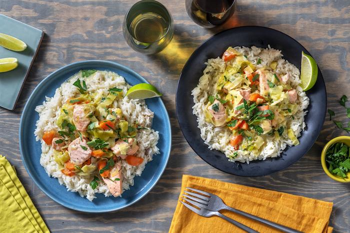 recette de Blanquette de saumon aux poireaux et carottes