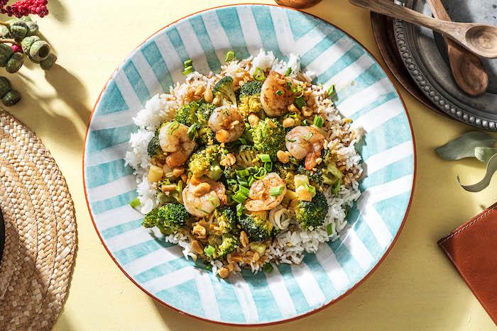 recette de Crevettes sautées à la sauce au gingembre