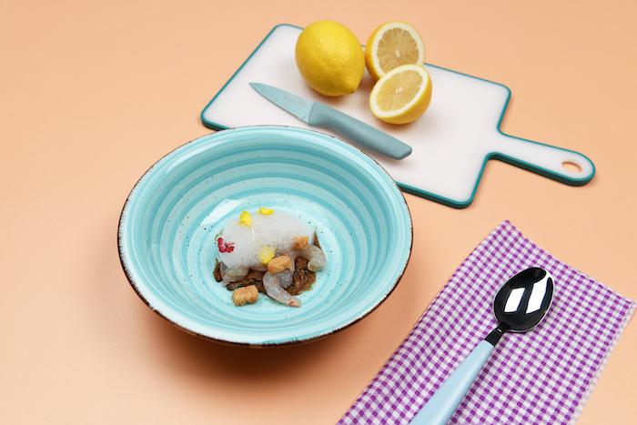 recette d'Écume de citron aux crevettes