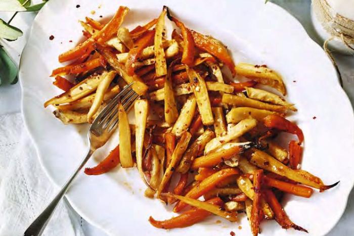 Légumes racines au sirop d'érable