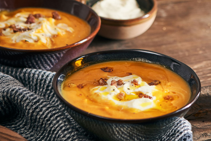 Soupe de potimarron et crème fouettée
