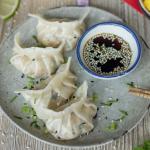 Raviolis chinois aux crevettes et à la mangue