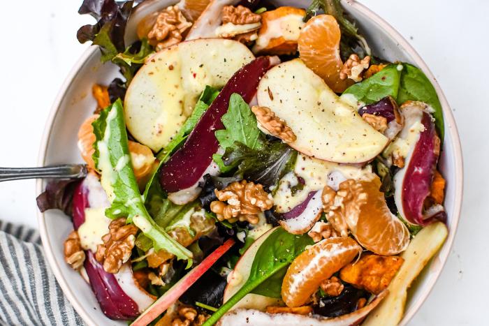 Salade de magret aux fruits d'automne