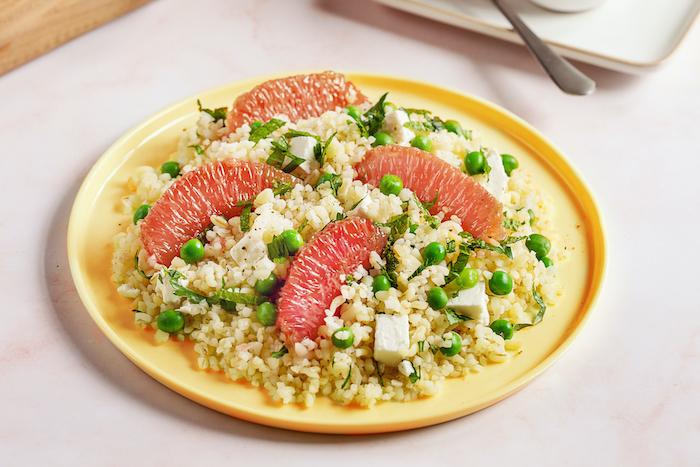 recette de Salade de boulgour au pamplemousse de Floride
