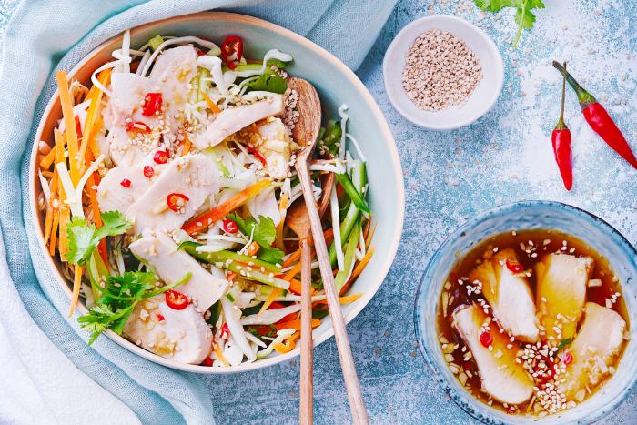 Salade vietnamienne légère au lapin