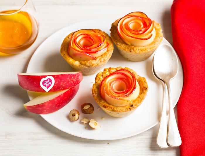 recette de Mini tartes fleur aux pommes