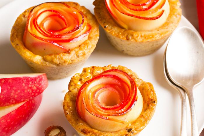 Mini tartes fleur aux pommes