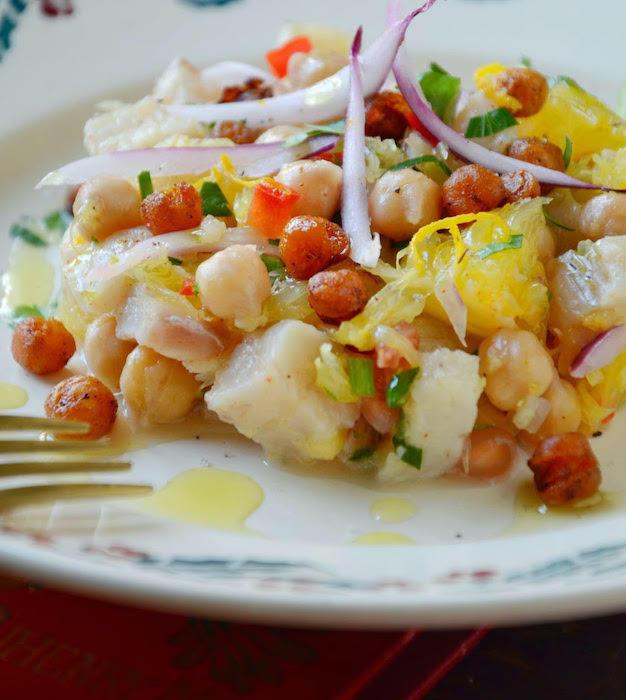 recette de Tartare de dorade aux pois chiches