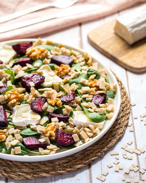 recette de Salade de crozets aux betteraves rôties