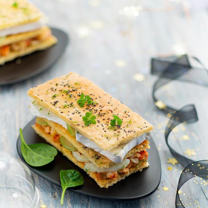 recette de Mille-feuilles de crabe et fenouil