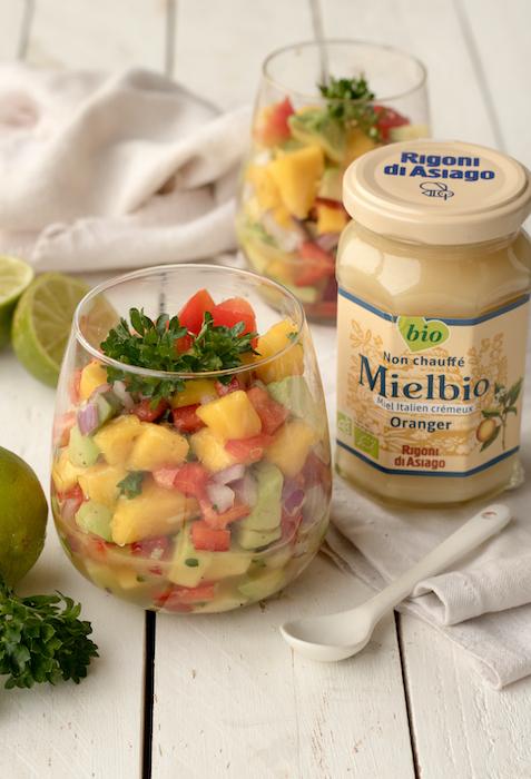 recette de Ceviche végétarien au Mielbio d'oranger