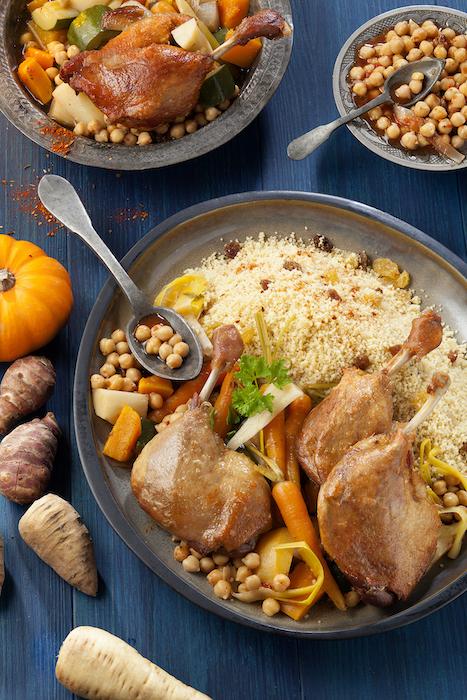 recette de Couscous au confit de canard