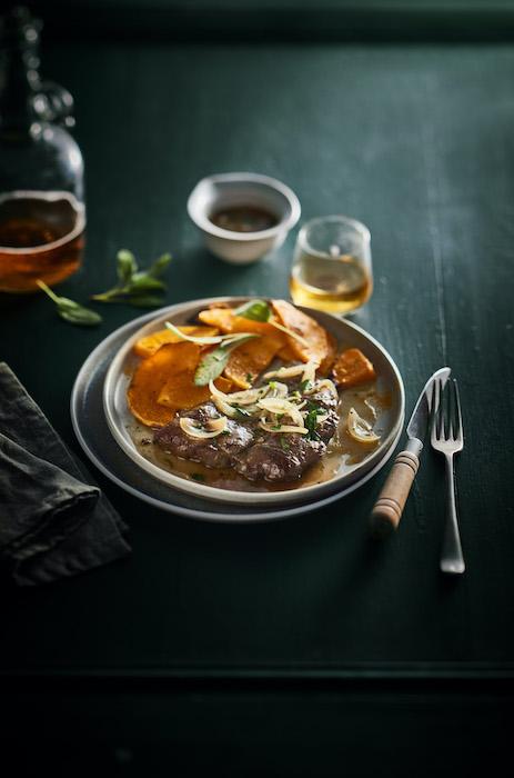 recette de Foie de génisse aux oignons et au cidre
