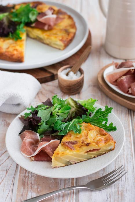 recette de Tortilla au jambon Consorcio Serrano
