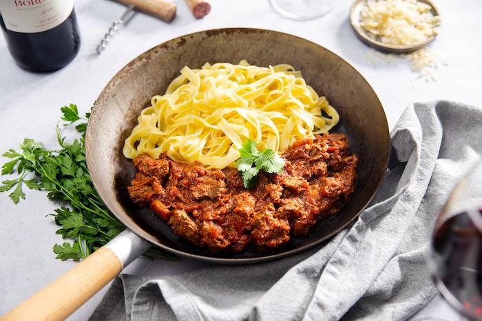 recette de Tagliatelles au bœuf braisé