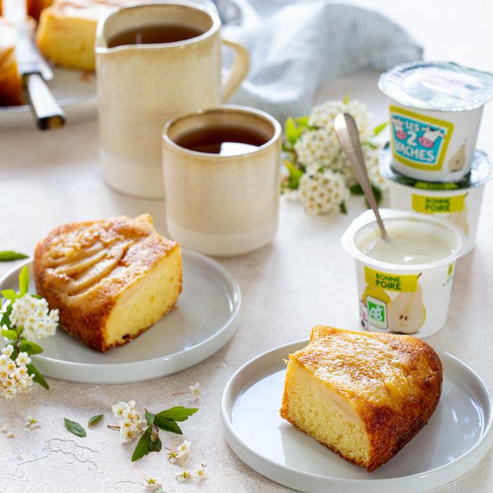 recette de Gâteau au yaourt aux poires