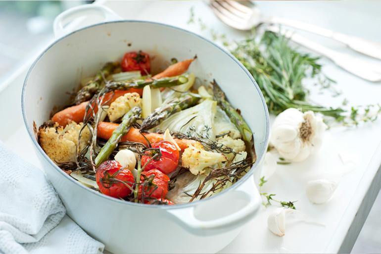 recette de Légumes au four aux fines herbes fraîches