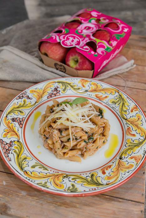 recette de Penne au tourteau et à la pomme