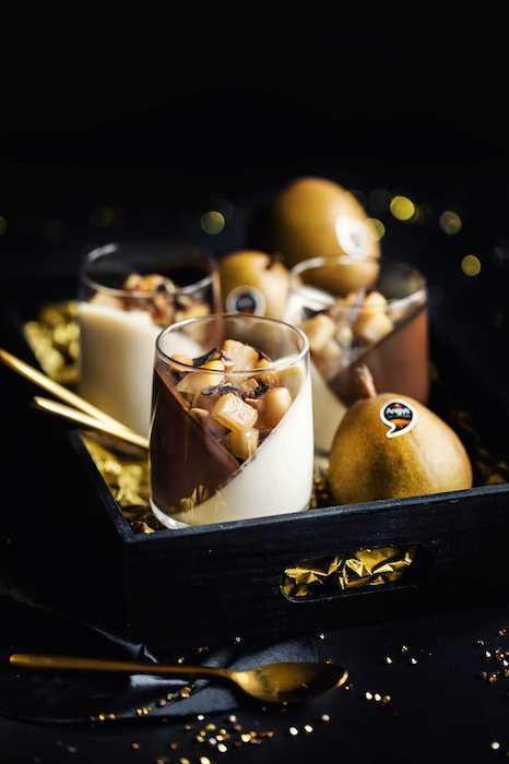 recette de Panna cotta poire-chocolat