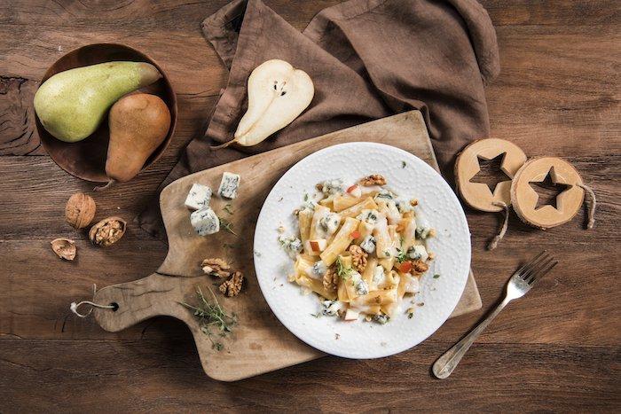 recette de Pâtes au Gorgonzola et poires