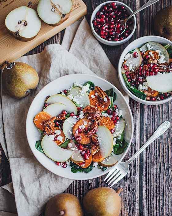 recette de Salade gourmande aux poires