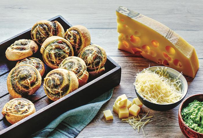 recette d'Escargots au pesto d'épinards et Emmental