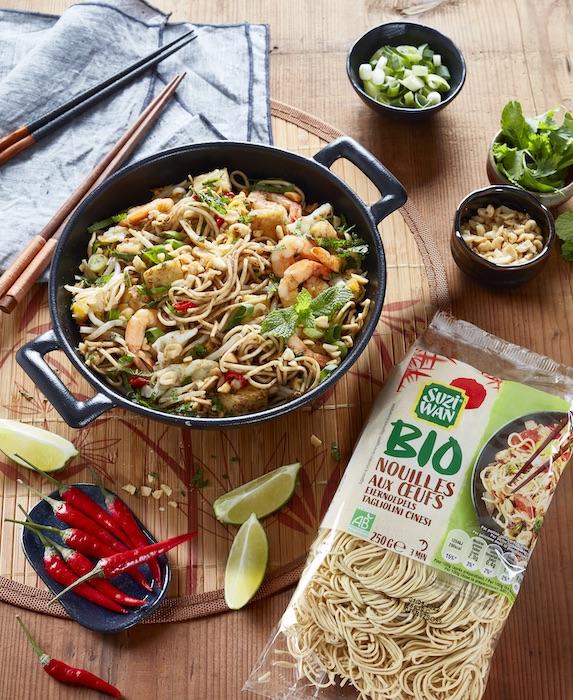 recette de Nouilles façon pad thaï