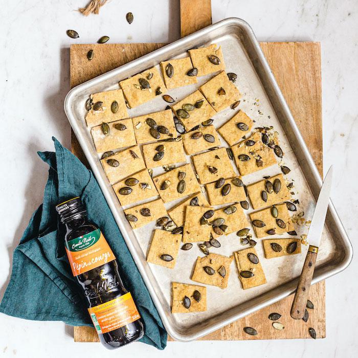 recette de Crackers aux pépins de courge