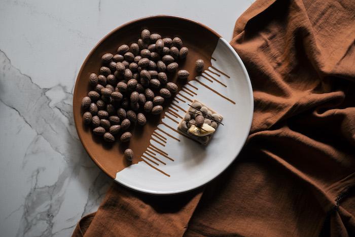 recette de Sablé chocolat orange et praliné