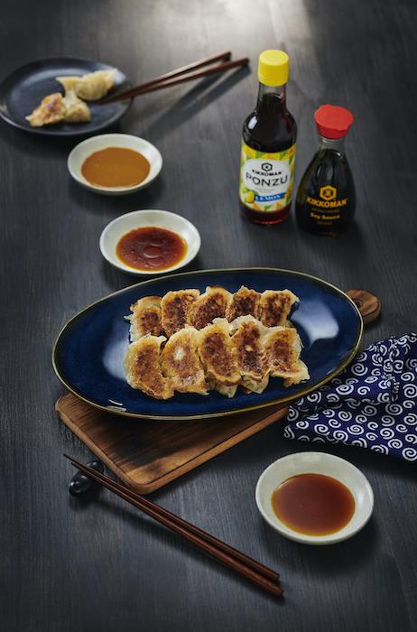 recette de Gyoza sautés aux 3 sauces